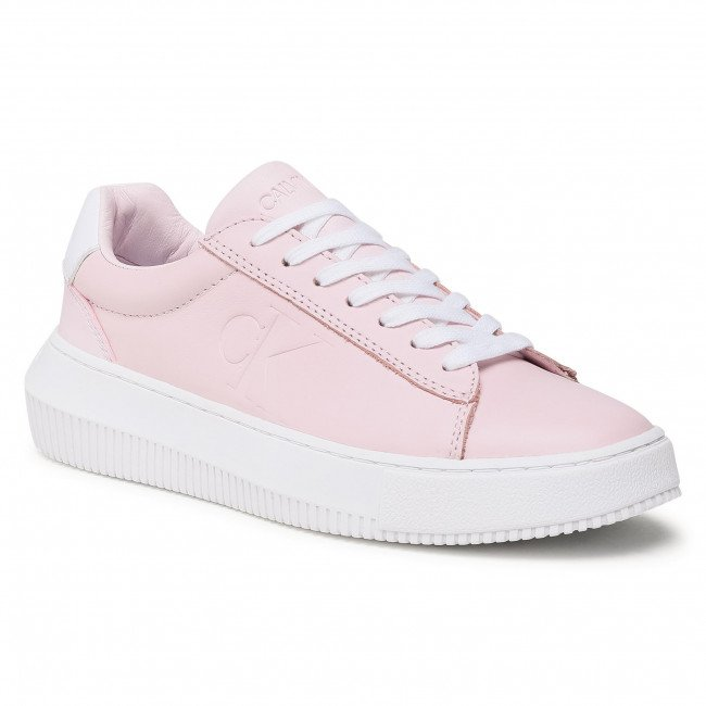 Sneakersy CALVIN KLEIN JEANS - Chunky Sole Sneaker Laceup Lth YW0YW00066 Pearly Pink TN9