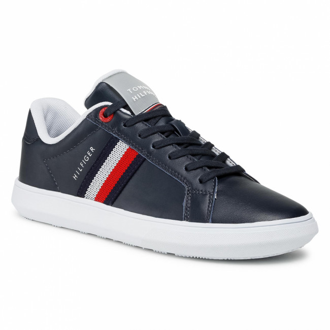 Sneakersy TOMMY HILFIGER - Essential Leather Cupsole FM0FM03424 Desert Sky DW5