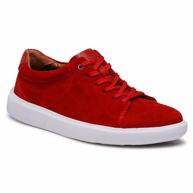 Sneakersy CLARKS - Cambro Low 261582297 Red Suede