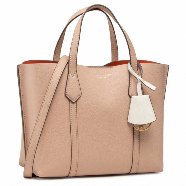 Kabelka TORY BURCH - Perry Small Triple-Compartment Tote 56249 Devon Sand 288