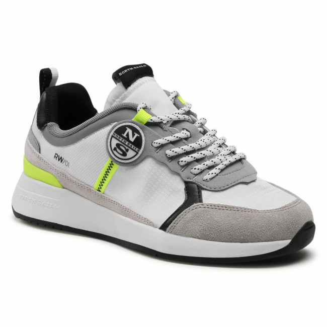 Sneakersy NORTH SAILS - RW/01 Wave -015 White/Grey/Yellow Fluo