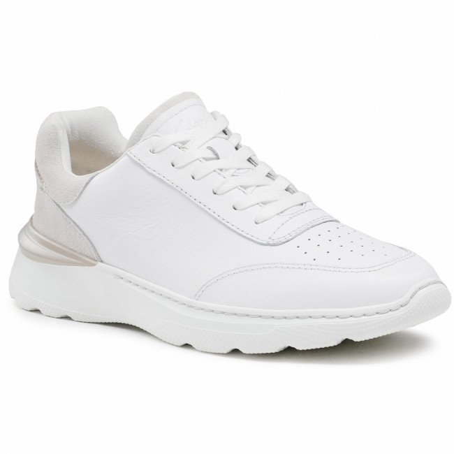 Sneakersy CLARKS - Sprint Lite Lace 26158339 White Combi Leather