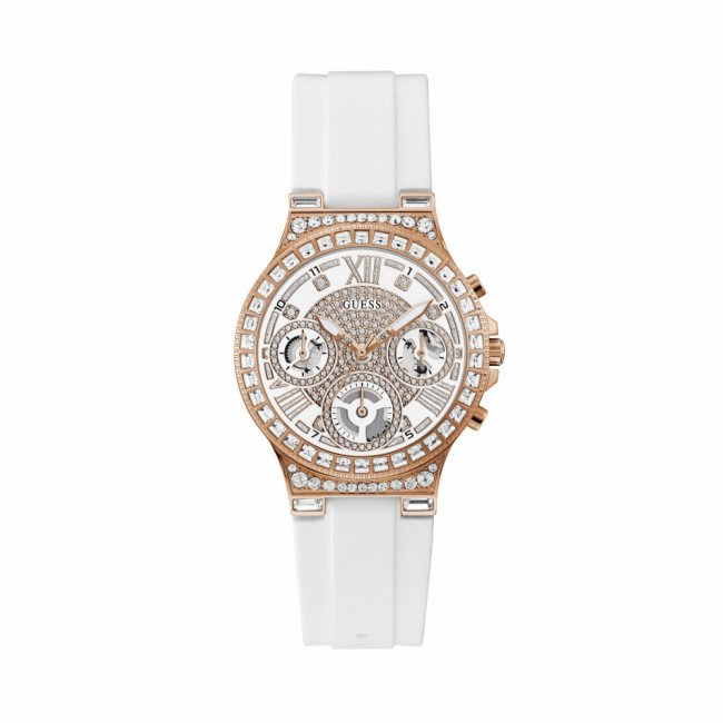 Hodinky GUESS - Moonlight GW0257L2 WHITE/ROSE GOLD