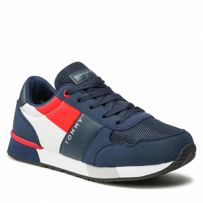 Sneakersy TOMMY HILFIGER - Low Cut-Lace-Up T3B4-32074-0316 Blue 800