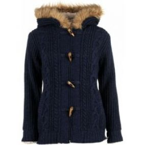 SoulCal Toggle Lined Knitted Hoody Ladies navy