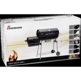 Landmann Black Taurus 660+ Charcoal Wagon Barbcue