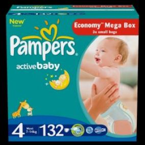 Pampers Active baby 4 maxi plienky 132ks