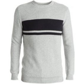 Quiksilver Svetr Invasion Stripes Light Grey