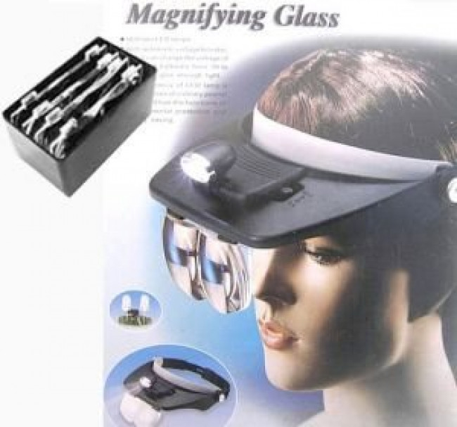 Light head Magnifying Glass – čelenka s lupou a lampou