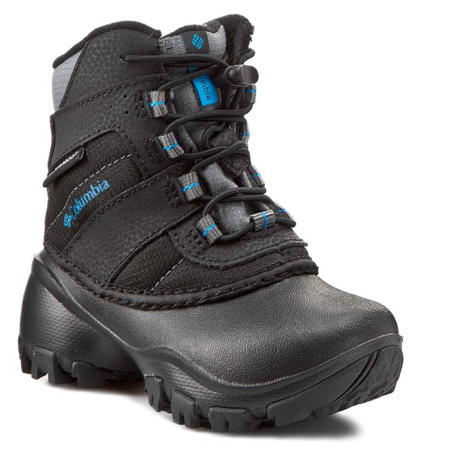 Trekingová obuv COLUMBIA - Childrens Rope Tow III Waterproof BC1322 Black/Dark Compass 010