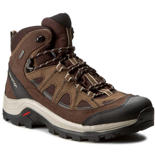 Trekingová obuv SALOMON - Authentic Ltr Gtx GORE-TEX 394668 27 V0 Black Coffee/Chocolate Brown/Vintage Khaki