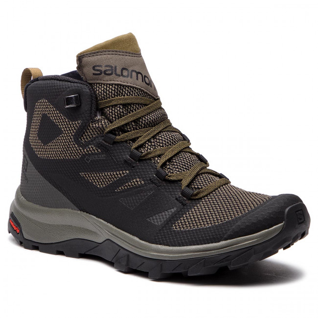 Trekingová obuv SALOMON - Outline Mid Gtx GORE-TEX 404763 27 V0 Black/Beluga/Capers
