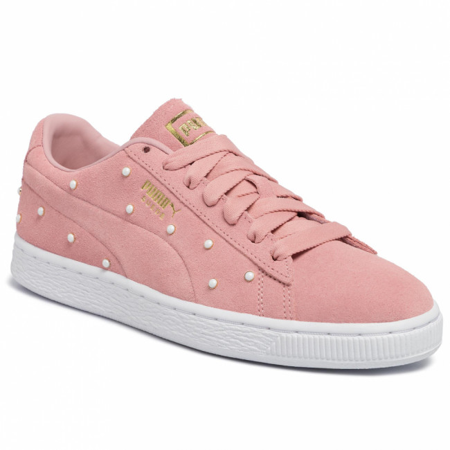 Sneakersy PUMA - Suede Pearl Studs Wn's 369934 02 Bridal Rose-Puma Team Gold