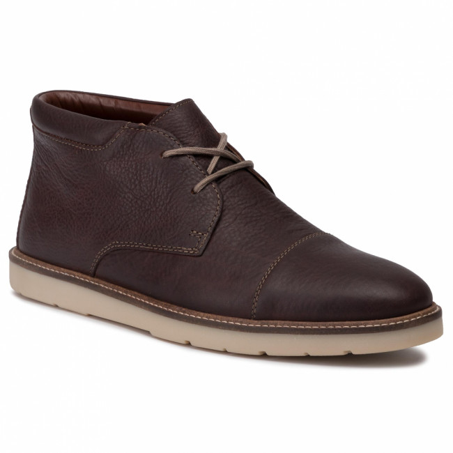 Outdoorová obuv CLARKS - Grandin Top 261463907 Dark Brown Tumbled