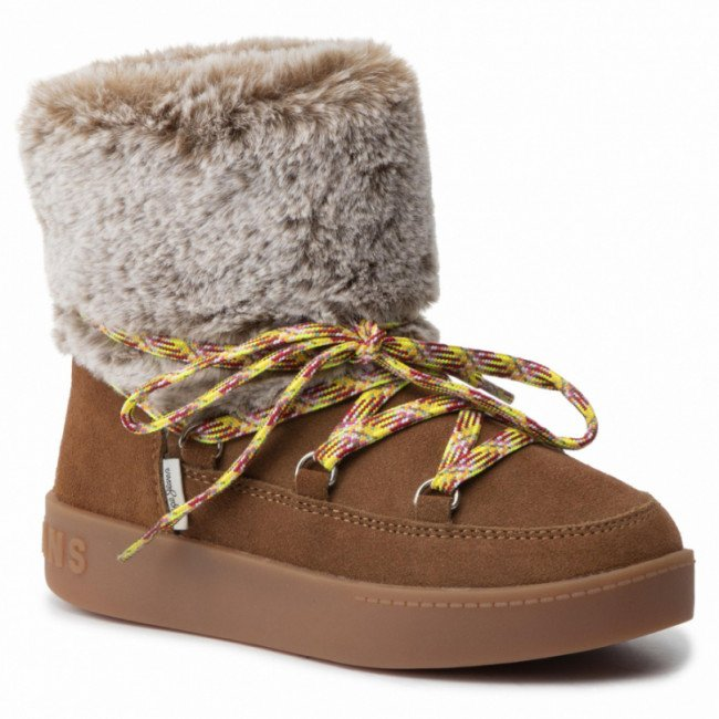 Topánky PEPE JEANS - Brixton Girl Fur PGS50147 Tobacco 859