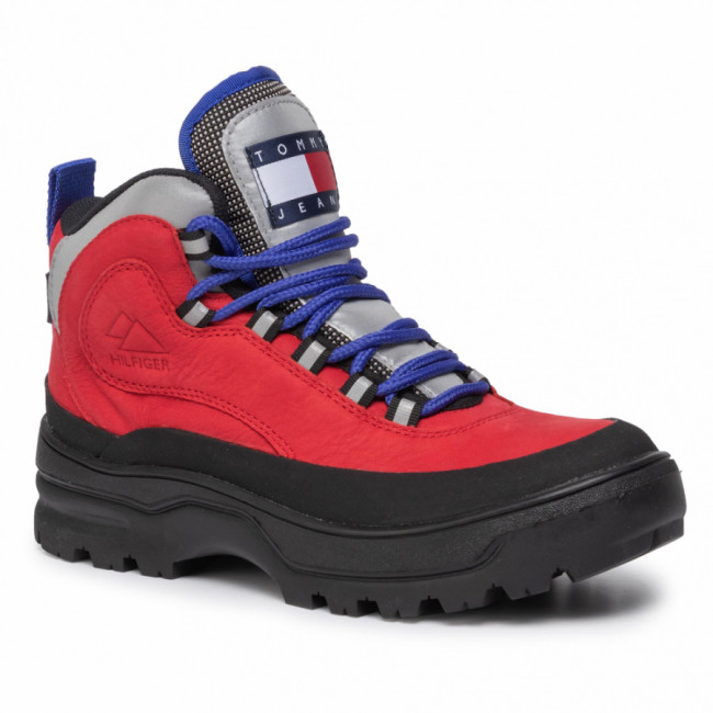 Outdoorová obuv TOMMY JEANS - Heritage Wmn Expedition Boot EN0EN00632 Tango Red 611