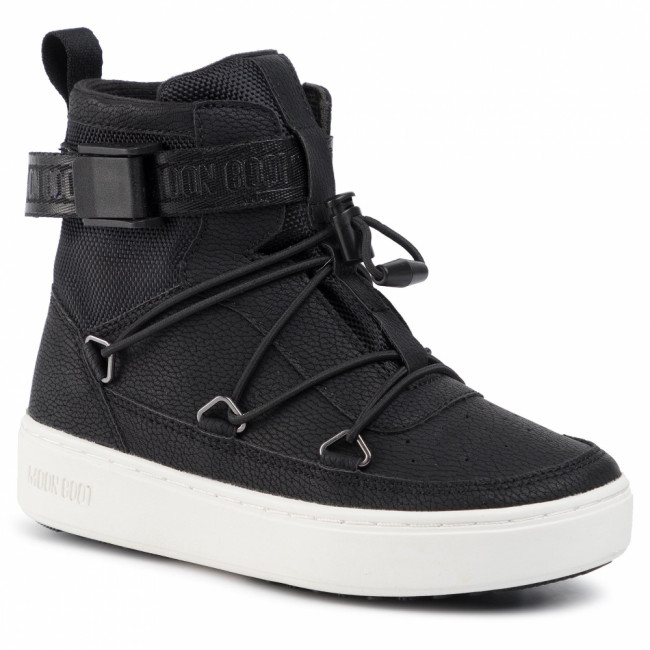 Outdoorová obuv MOON BOOT - Pulse Jr Boy New York 34061100001 Black