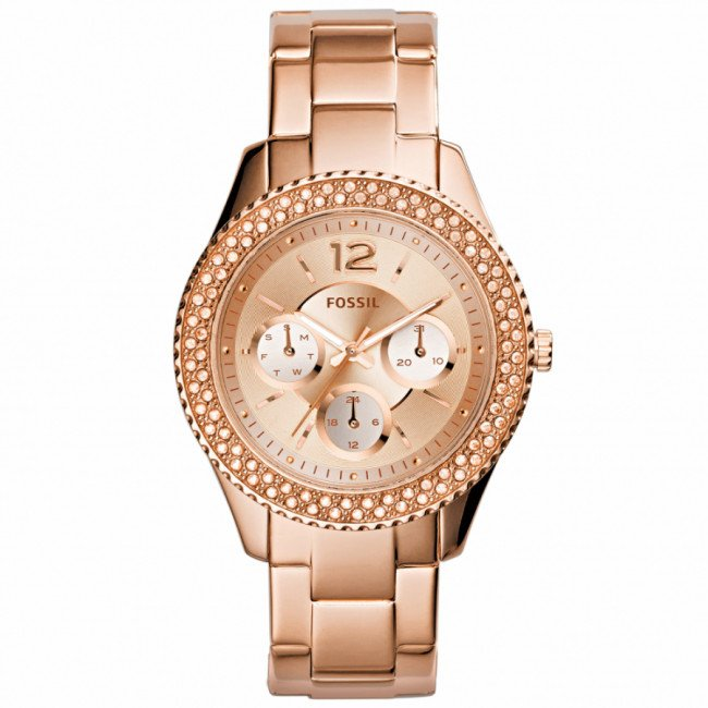 Hodinky FOSSIL - Stella ES3590 Rose Gold/Rose