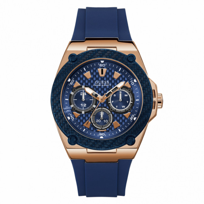 Hodinky GUESS - Legacy W1049G2 NAVY/ROSE GOLD/NAVY