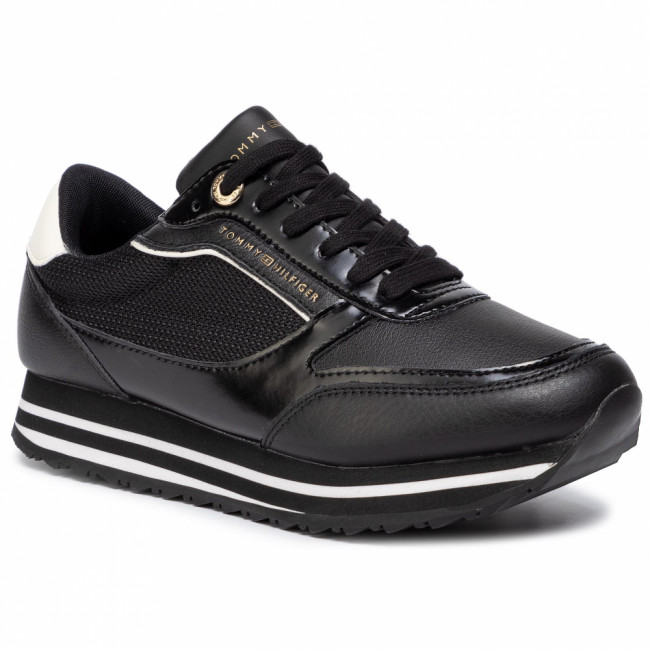 Sneakersy TOMMY HILFIGER - Tommy Retro Branded Sneaker FW0FW04305 Black 990