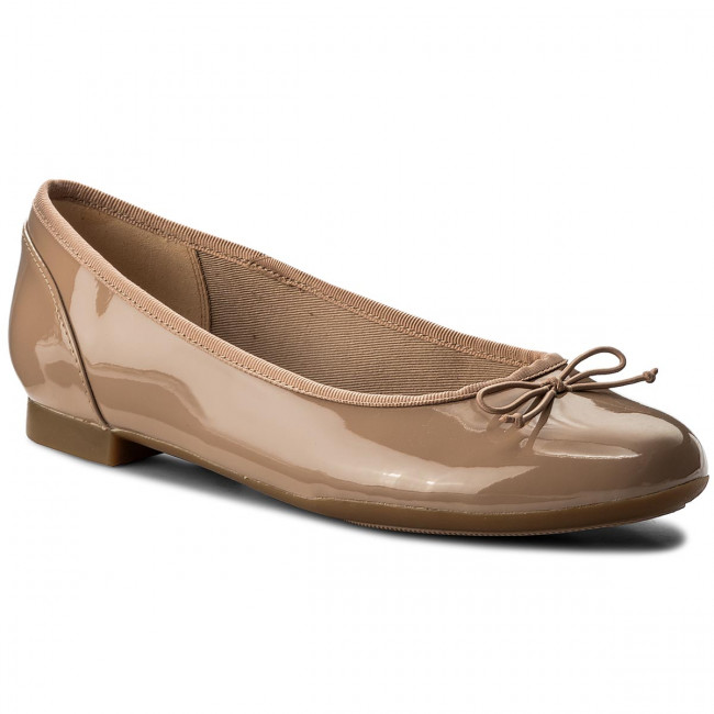 Baleríny CLARKS - Couture Bloom 261339924 Nude Patent