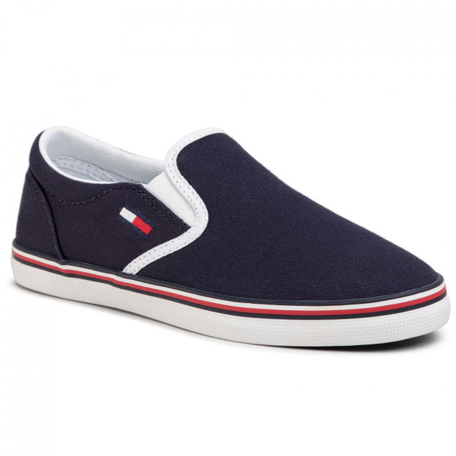 Tenisky TOMMY JEANS - Essential Slip On Sneaker EN0EN00782 Twilight Navy C87