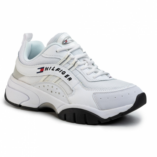 Sneakersy TOMMY JEANS - Heritage Tommy Jeans Runner EM0EM00397 White YBS