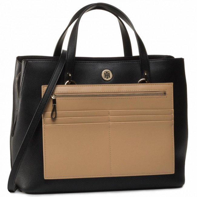 Kabelka TOMMY HILFIGER - Charming Tommy Working AW0AW08162 BLK