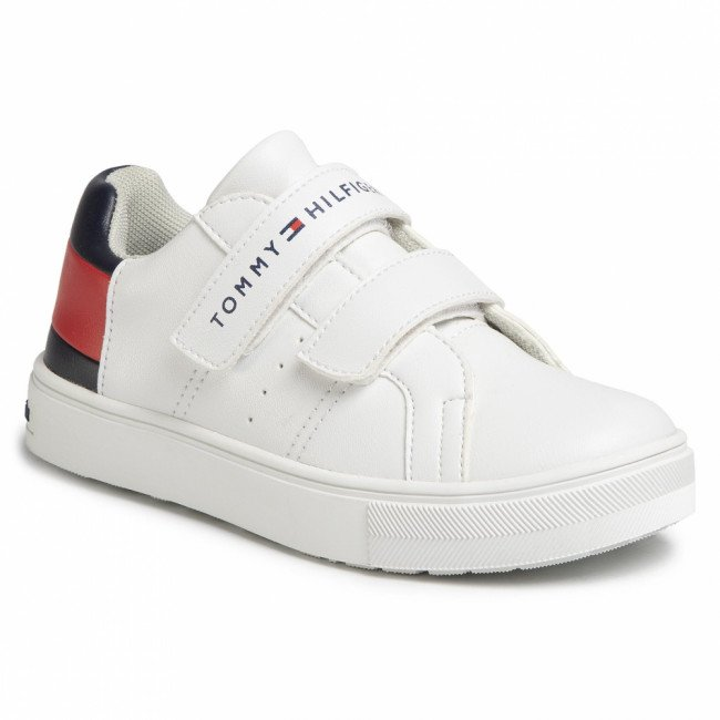Sneakersy TOMMY HILFIGER - Low Cut Velcro Sneaker T3B4-30719-0193 M White/Blue/Red Y003
