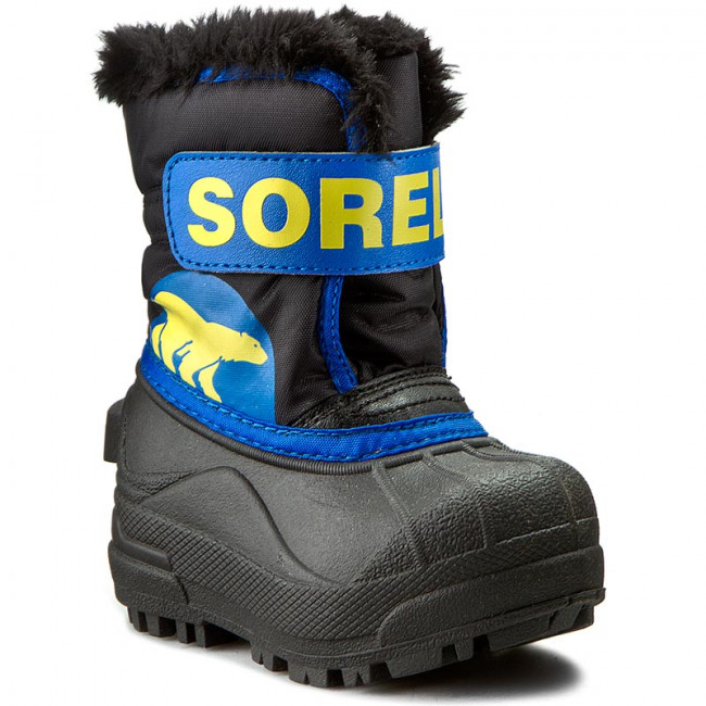 Snehule SOREL - Toddler Snow Commander NV 1877 Black/Super Blue 011