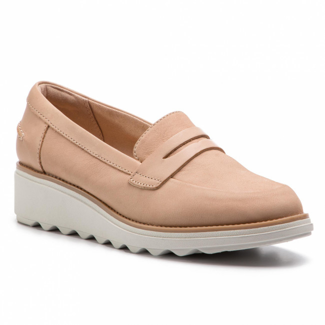 Poltopánky CLARKS - Sharon Ranch 261406474 Blush Nubuck