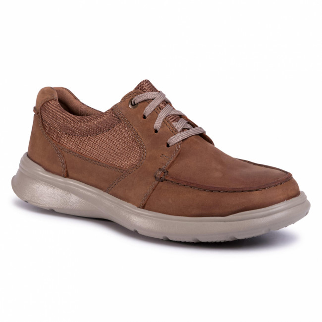Poltopánky CLARKS - Cotrell Lane 261486517 Tan Combi Leather