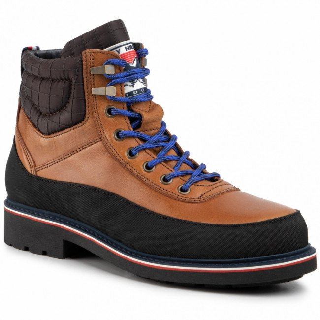 Outdoorová obuv TOMMY HILFIGER - Material Mix Corporate Boot FM0FM02590  Natural Cognac GTU