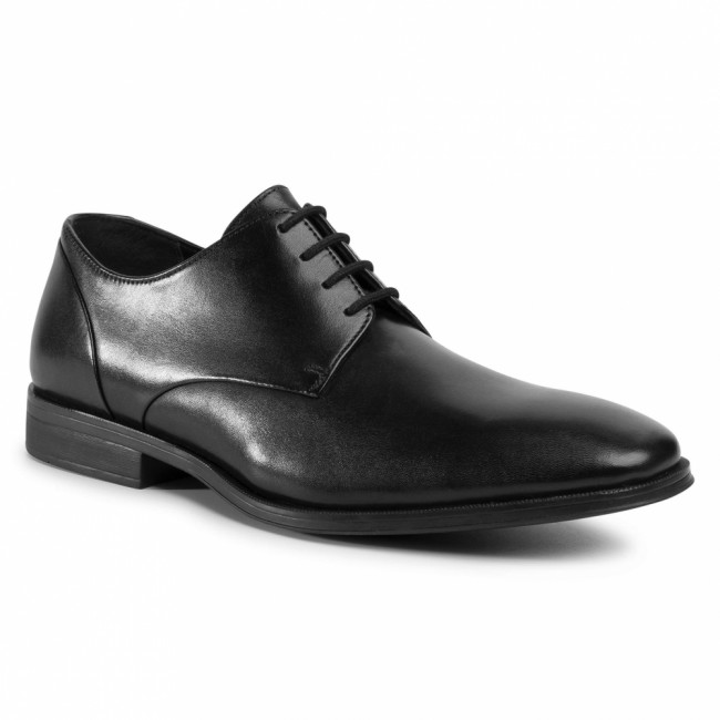 Poltopánky CLARKS - Gilman Plain 261475787  Black Leather