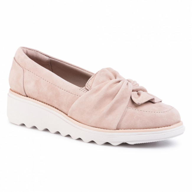 Poltopánky CLARKS - Sharon Dasher 261476344 Sand Suede