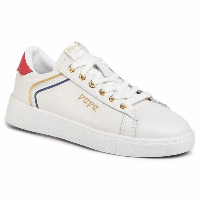 Sneakersy PEPE JEANS - Roxy Arch PLS30956 White 800
