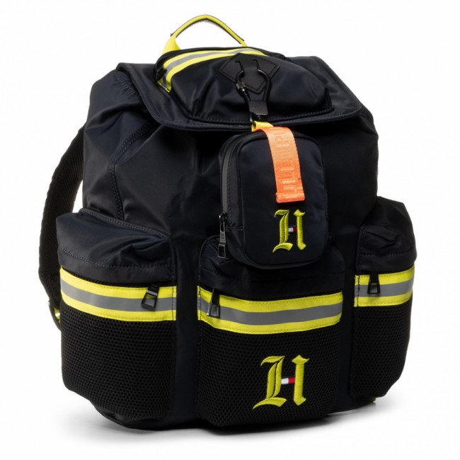 Ruksak TOMMY HILFIGER - Lh Flap Backpack With Pouch AM0AM06118 ZAR