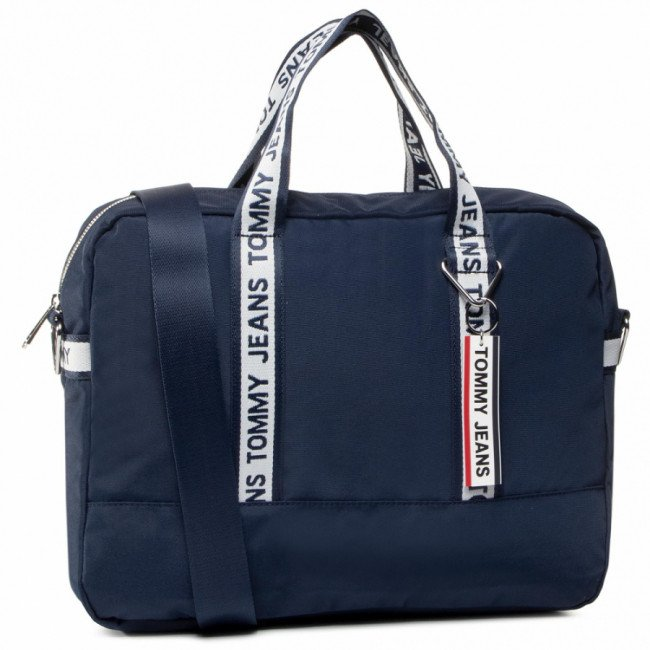 Taška na Laptop TOMMY JEANS - Tjm Logo Tape Computer Bag Nylon AM0AM06153 Blu CBK