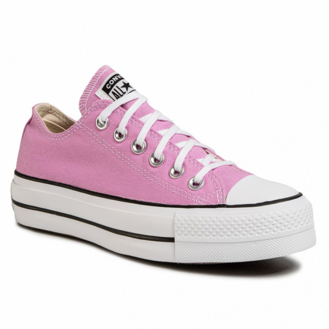 Tramky CONVERSE - Ctas Lift Ox 566756C Peony Pink/White/Black