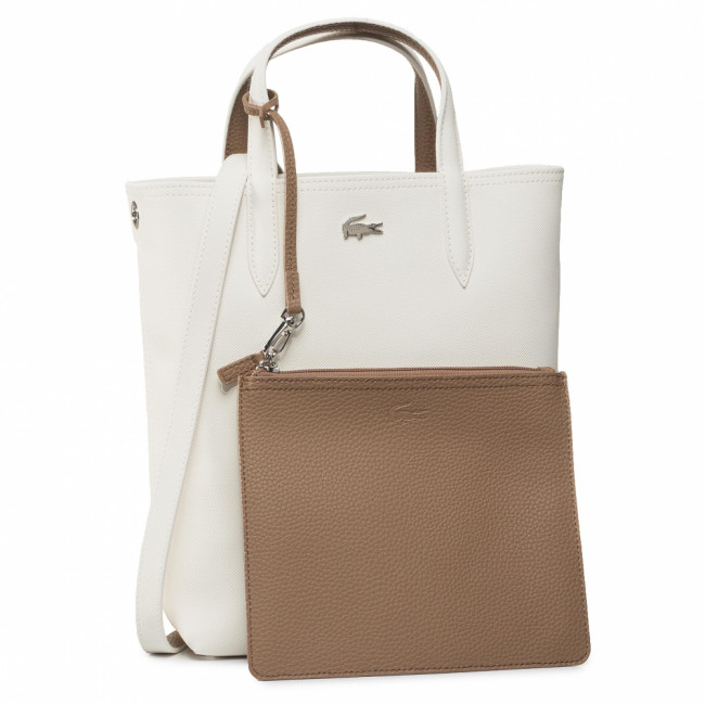 Kabelka LACOSTE - Vertical Shopping Bag NF2991AA Marshmallow Otter E39