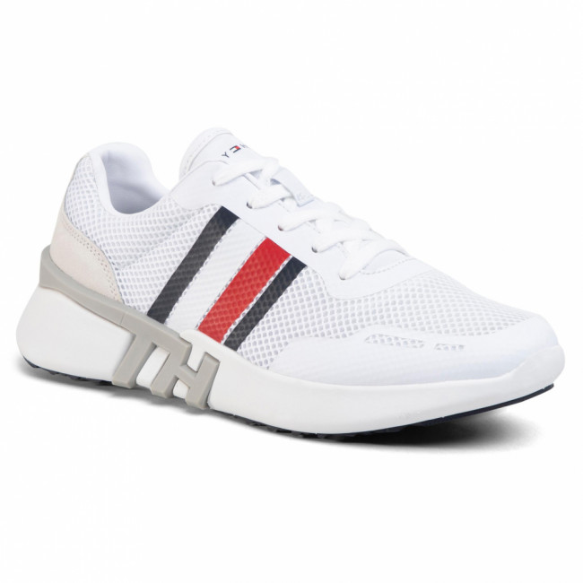 Sneakersy TOMMY HILFIGER - Lightweight Corporate Th Runner FM0FM02661 White YBS