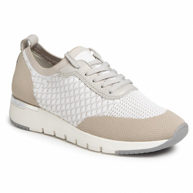 Sneakersy CAPRICE - 9-23702-24 White Knit Com 125