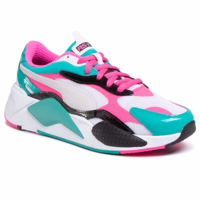 Sneakersy PUMA - RS-X³  Plastic 371569 04 Puma White/Fluo Pink