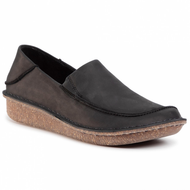 Poltopánky CLARKS - Funny Go 261475604 Black Leather