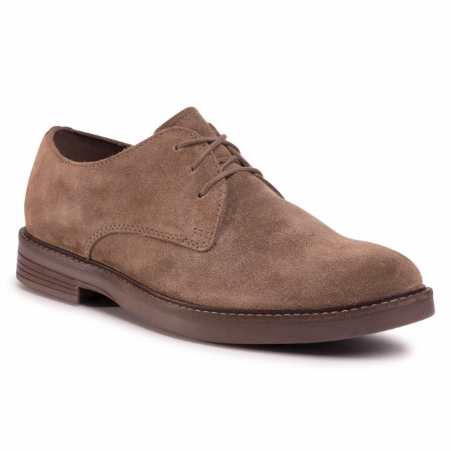 Poltopánky CLARKS - Paulson Plain 261497507 Olive Suede