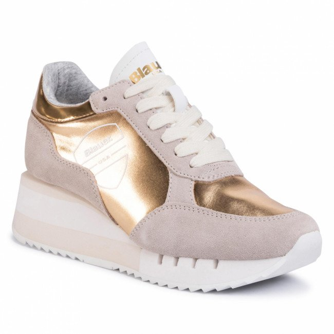 Sneakersy BLAUER - S0CHARLOTTE04/LAM Gold