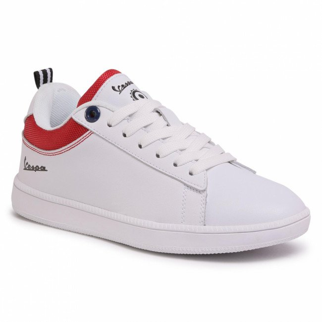 Sneakersy VESPA - Festival V00013-400-1050 White/Red