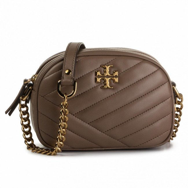 Kabelka TORY BURCH - Kira Chevron Small Camera Bag 60227 Classic Taupe 250