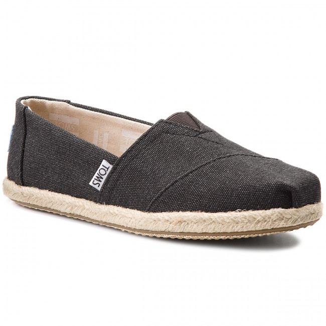 Espadrilky TOMS - Classic 10009751 Black Washed