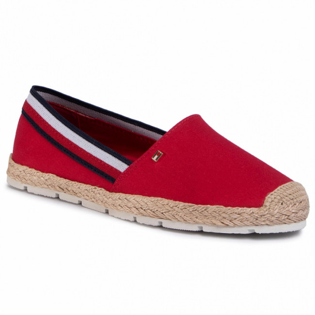 Espadrilky TOMMY HILFIGER - Basic Tommy Corporate Espadrille FW0FW04738 Primary Red XLG